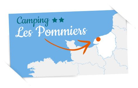 carte camping Normandie